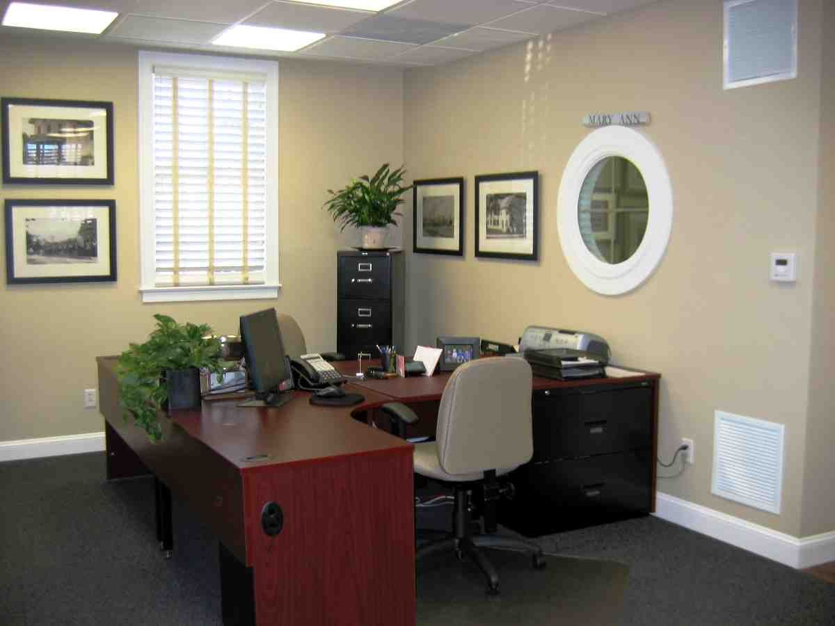 Decorate your office at work work office decorating Executive home office ideas