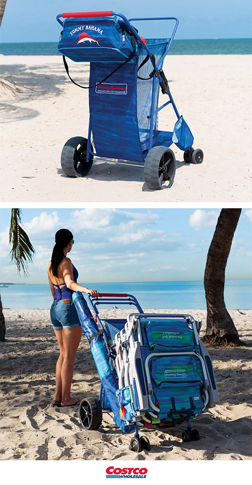 Get all your gear down to the beach in one easy trip with