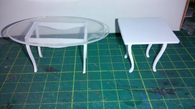 Mesas ovalada y cuadrada escala 1/25 | ideas | Pinterest