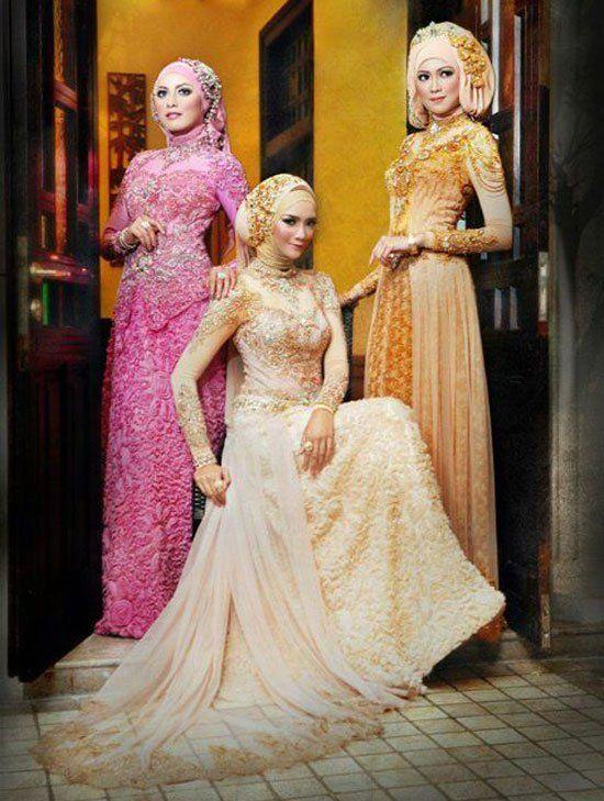 Muslim Girls Wedding Dresses with Sleeves and Hijab (100+ Photos ...
