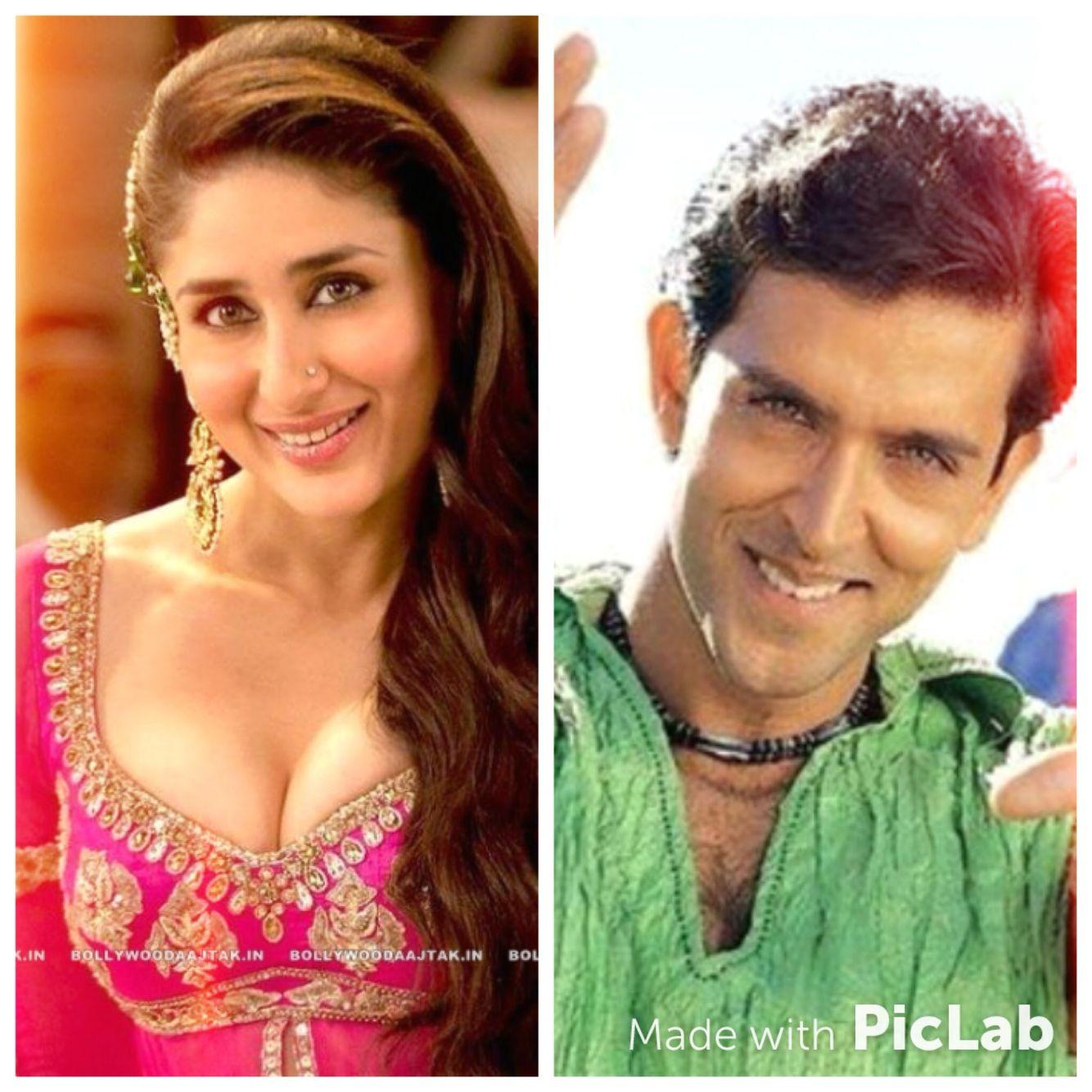 Aren T They Adorable Together Kareena Kapoor Hrithik Roshan Karthik Kashan Xd Hrithik Roshan Bollywood Kareena Kapoor
