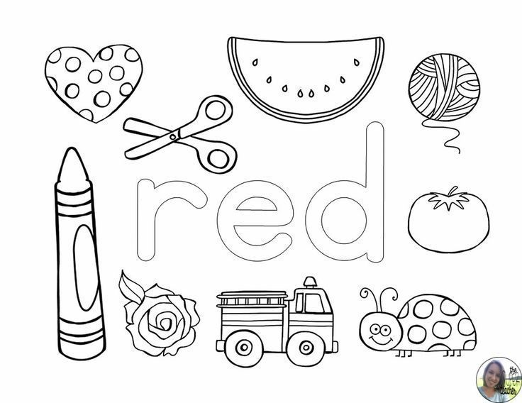 Learning About Colors Coloring Pages Preschool Colors