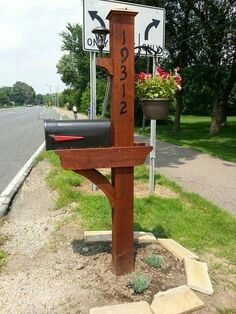 Simple Decorative Mailbox Post