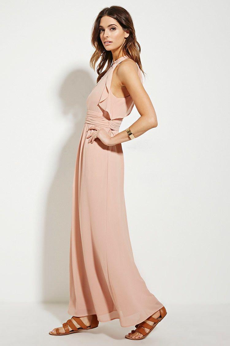 Contemporary ruffle maxi dress forever i like