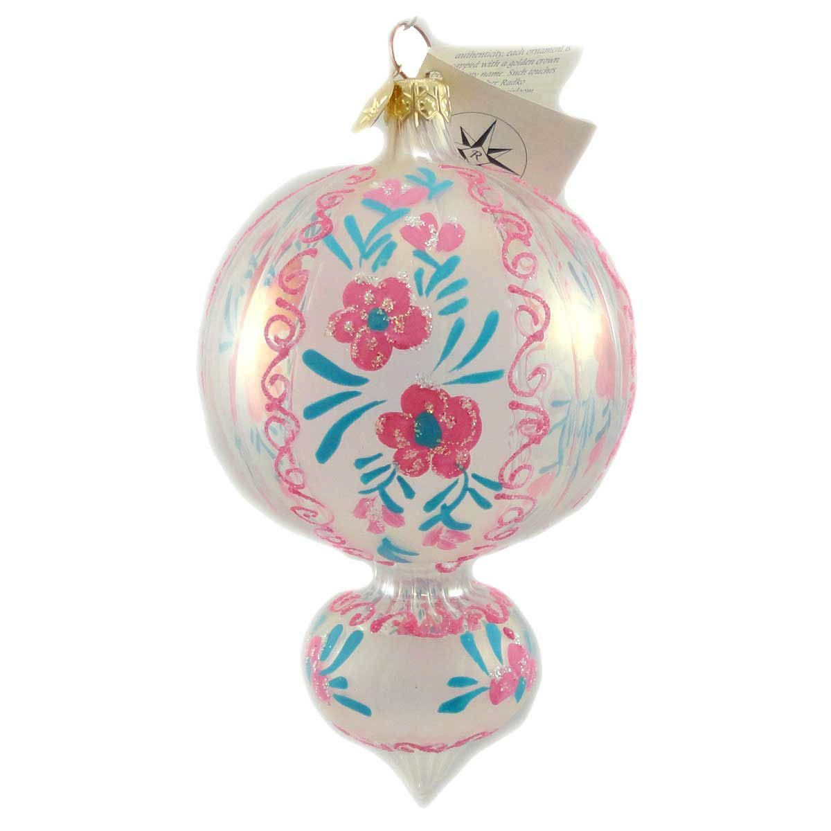 Christopher Radko Flower Frost Glass Ornament | Frosted glass ...