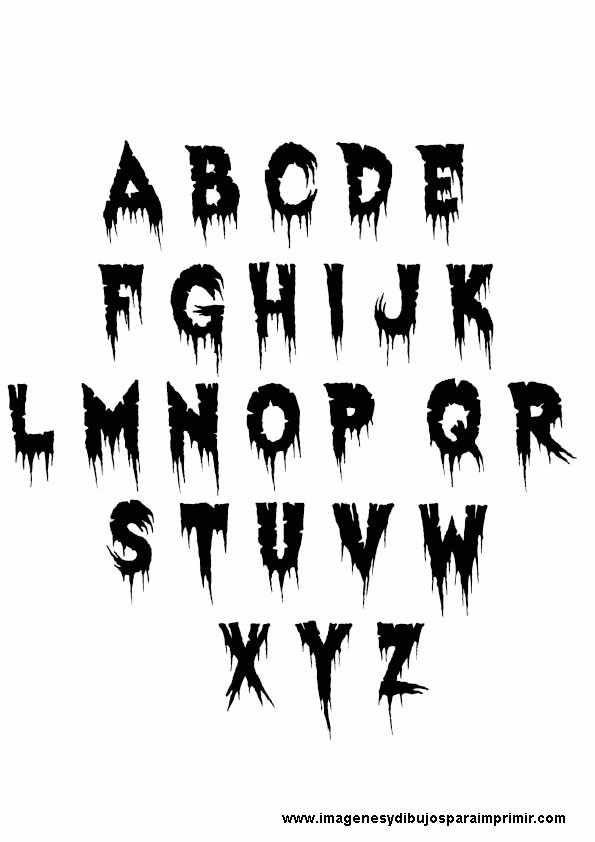 Letras con sombras de miedo   Halloween   Letras con sombra