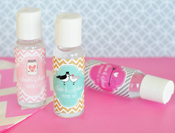 Hand Sanitizer Favors Personalized Hand Sanitizer Labels Case