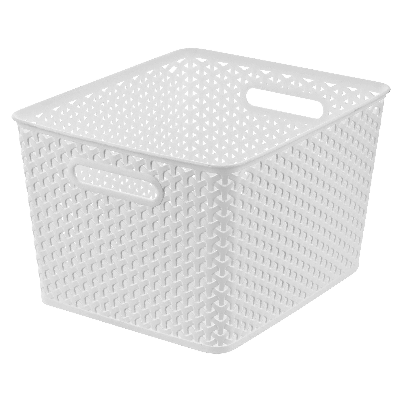 Room Essentials Y Weave Large Storage Basket Set Of 4 Large Storage Baskets Room Essentials Large Storage Bins