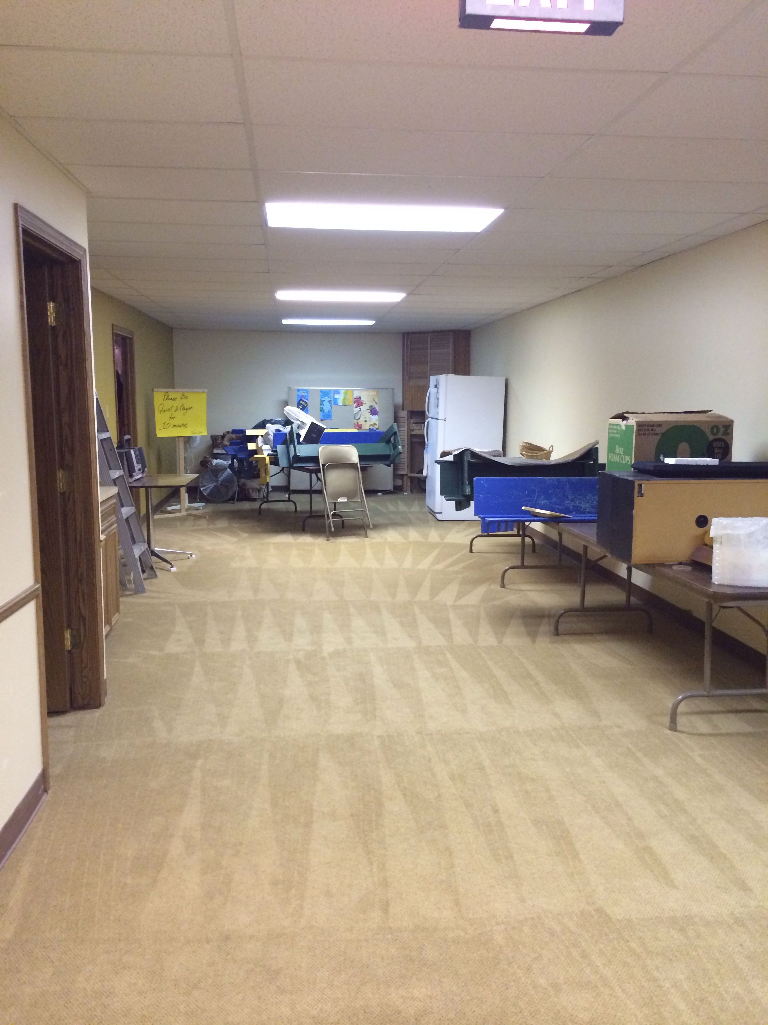 Recovery Room Design: Water Damage In A Church. This Pic Shows All The Repair