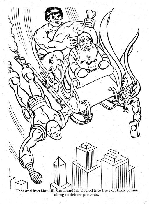 Marvel Christmas Coloring00045 Christmas Coloring Books Superhero Christmas Christmas Coloring Pages