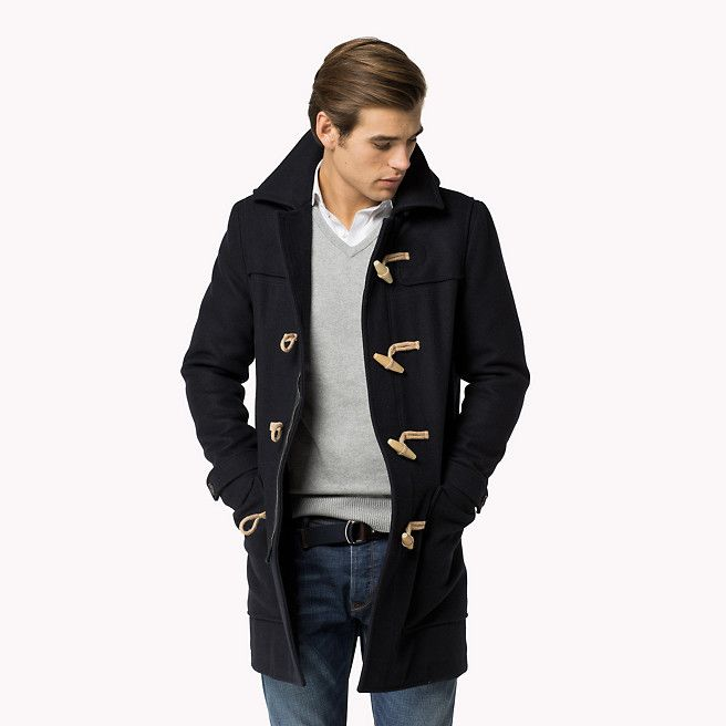 Tommy Hilfiger Melange Duffle Jas | Men's Fashion - Blazers ...
