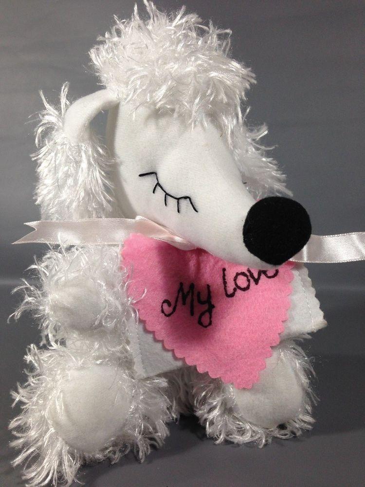 Creative design white french poodle dog stuffed sitting