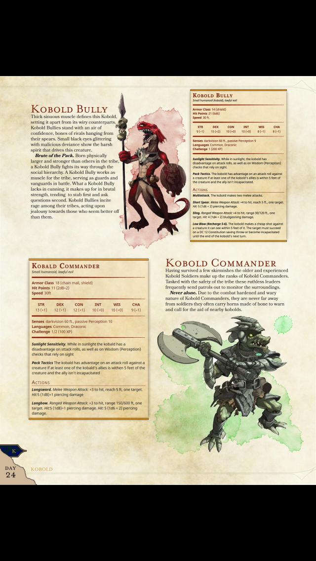 New Kobold types: Bully (CR 1) & Commander (CR ½) – DnD 5e