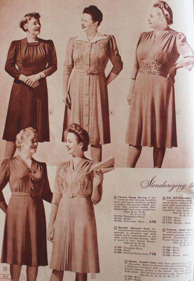 1940s Plus Size Clothing Dresses History 1940s 40s Fashion And