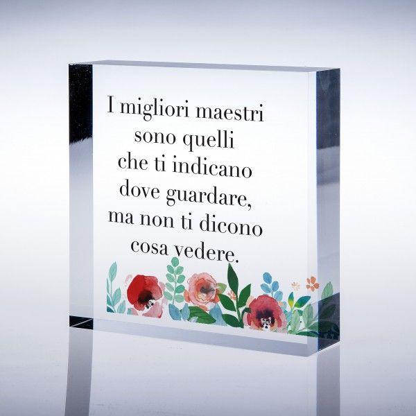 Idea Regalo Di Fine Anno Scolastico Agli Insegnanti Con Frase