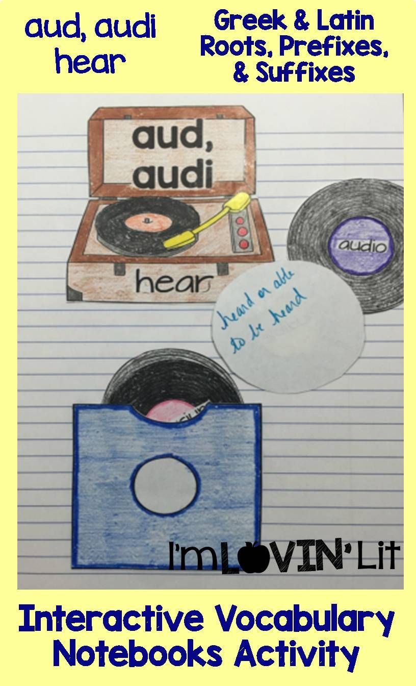 Interactive Vocabulary Notebooks Prefixes Roots And Greek - Aud audi