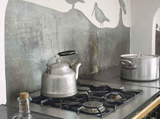 Cuisine Crédence En Zinc Pourquoi Pas Pour La Maison De - Meuble cuisine bois et zinc pour idees de deco de cuisine