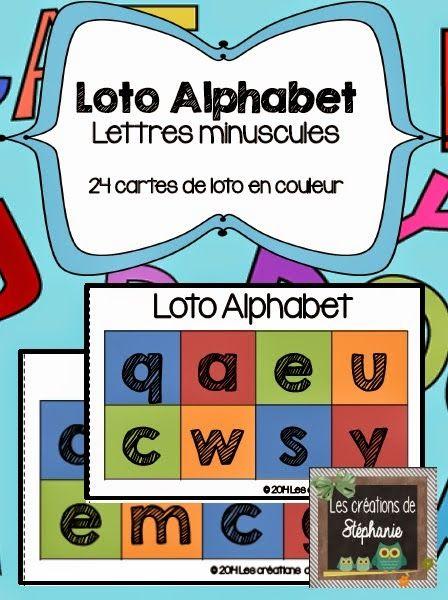 Les créations de Stéphanie: Loto Alphabet