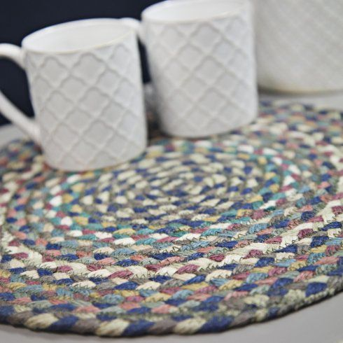 the braided rug company round braided placemat storm the braided