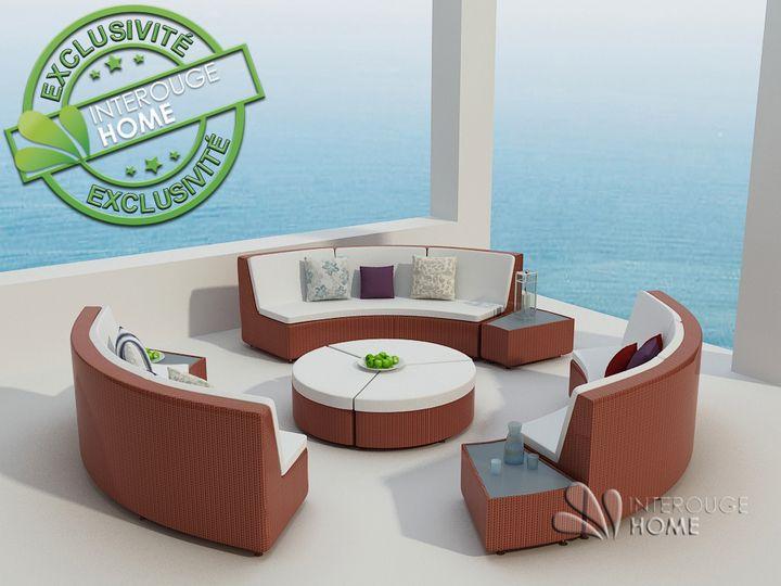 Dès 1,405.80€, Salon de jardin RILASA : rond modulable en résine ...