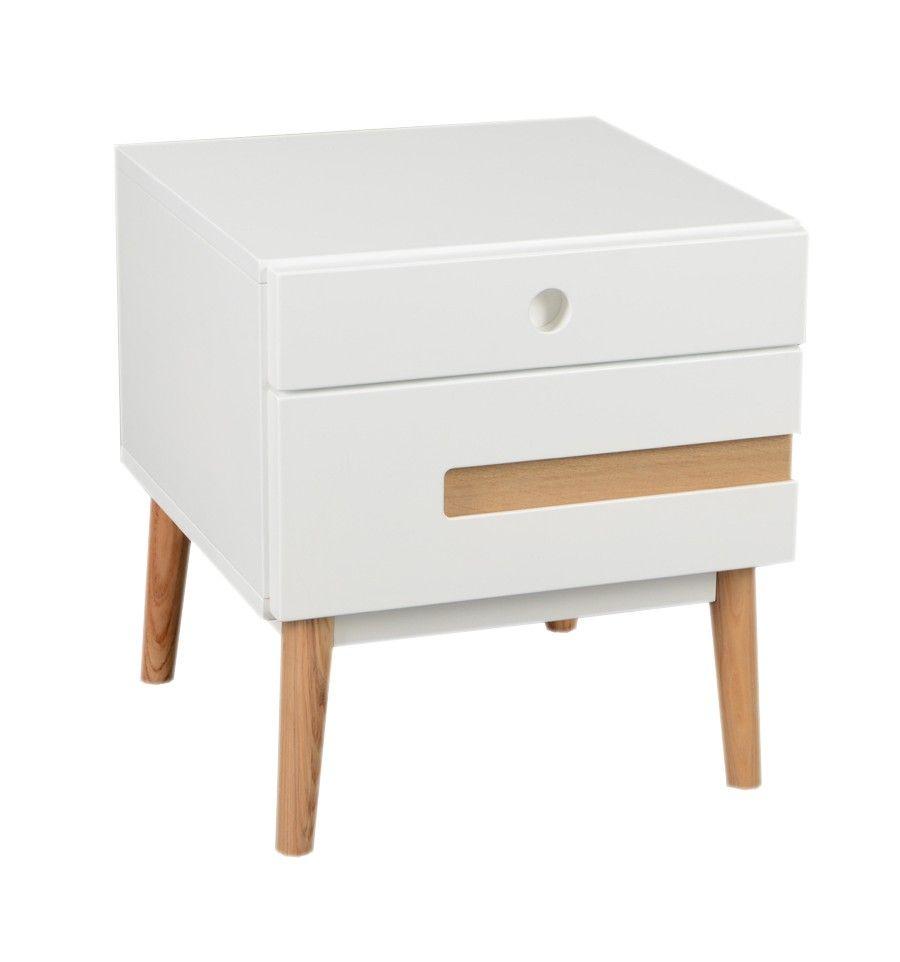 Mesa de noche estilo nórdico 2 cajones | Muebles | Pinterest ...