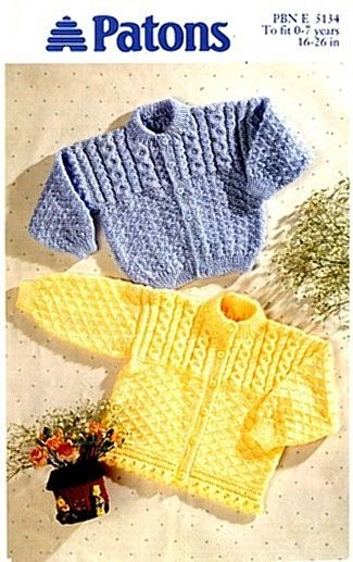 86ad8f650 Vintage Patons Baby Knitting Patterns