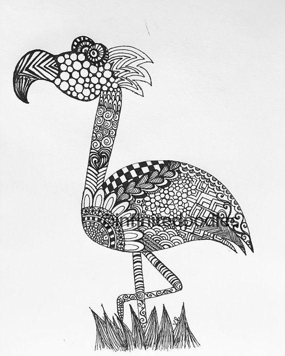 Flamingo zendoodle
