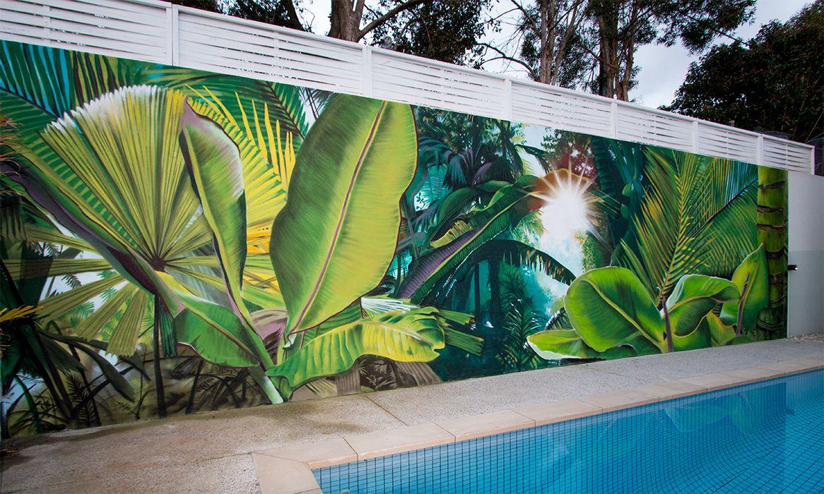 Residential Jungle Mural In 2019 Graffiti Wall Art