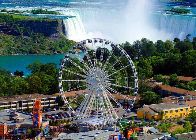 Ariel Shot Of Niagara Falls Skywheel Niagara Falls Attractions Niagara Falls Canada Niagara Falls