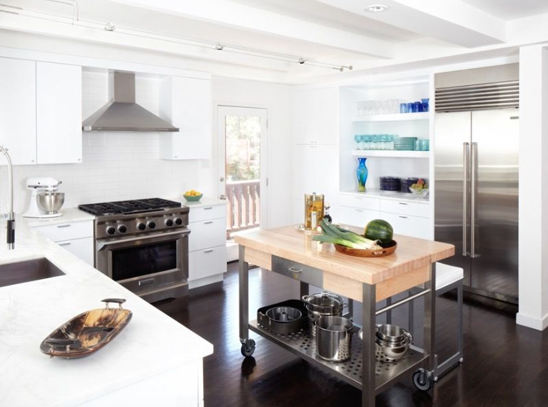 Kitchen Island On Casters: Mobile Wonders Roll Together Form And Function