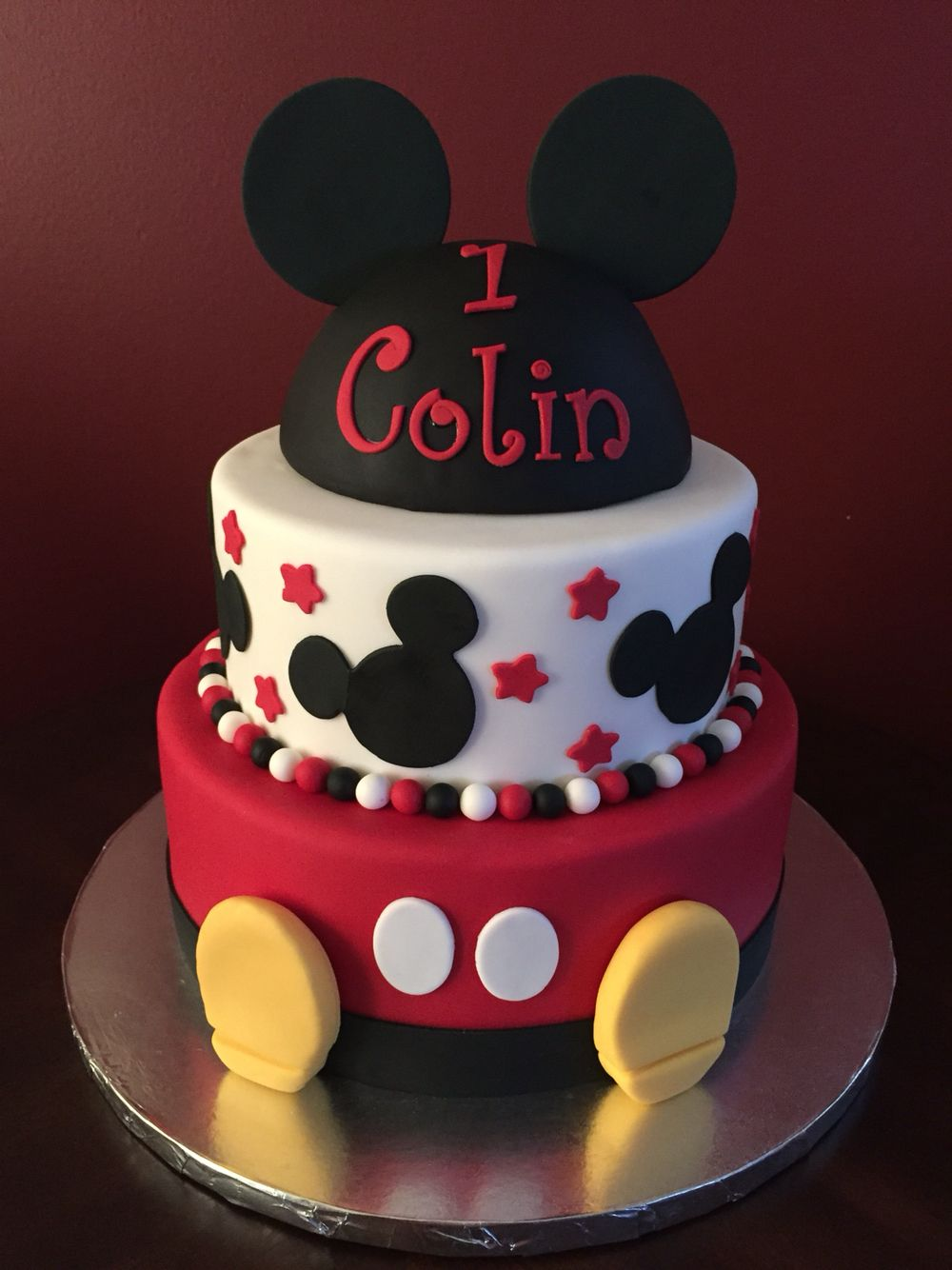 Mickey Mouse Birthday Cake Birthday Cakes Pinterest Birthday