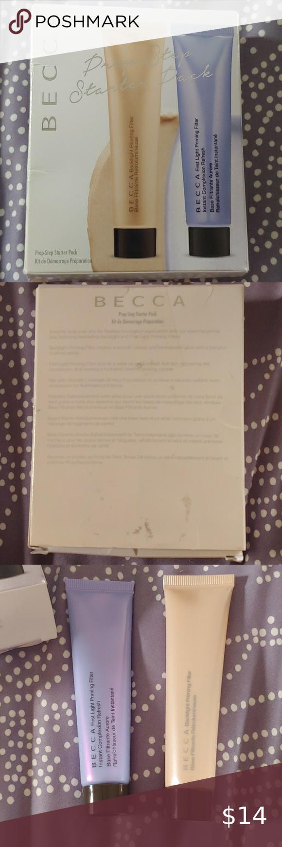 NIB BECCA prep-starter pack | Travel size products, Becca ...