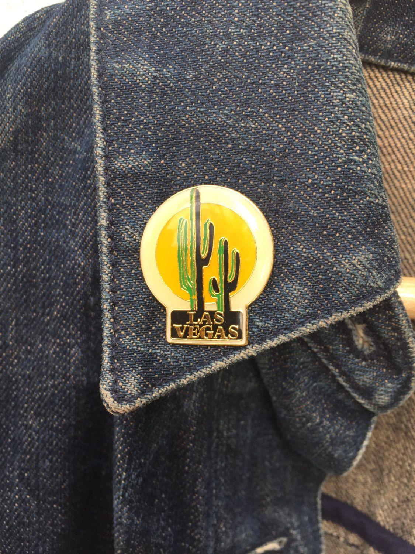Vintage Cactus Las Vegas Desert Pin - Tie Tack by ElkHugsVintage on Etsy