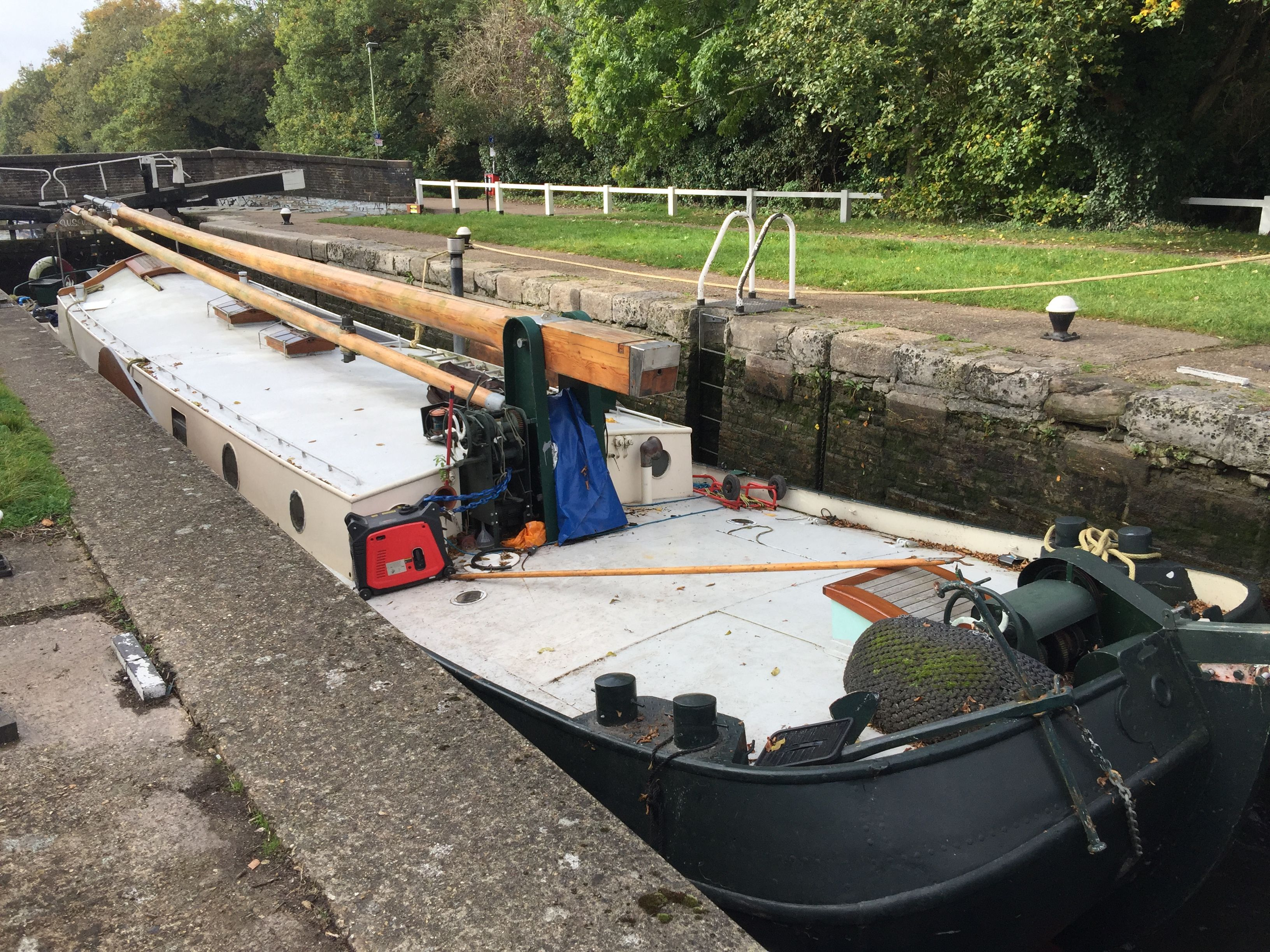 1926 Dutch barge. Cruising the grand union canal