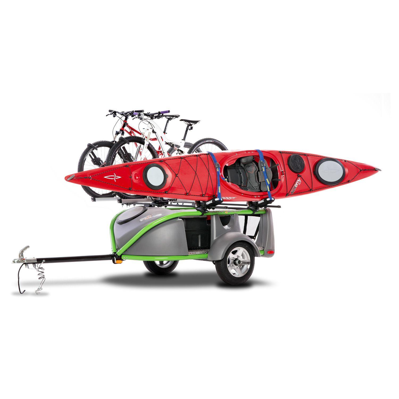 A Trailer So Light a Bike Can Tow It Kayak trailer