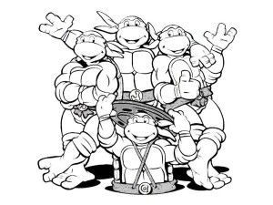 Ninja Turtles Sewer Coloring Pages