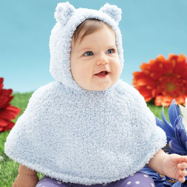 Bernat Huggy Bear Knit Cape | Knit♡Baby♡Clothes | Knitted ...