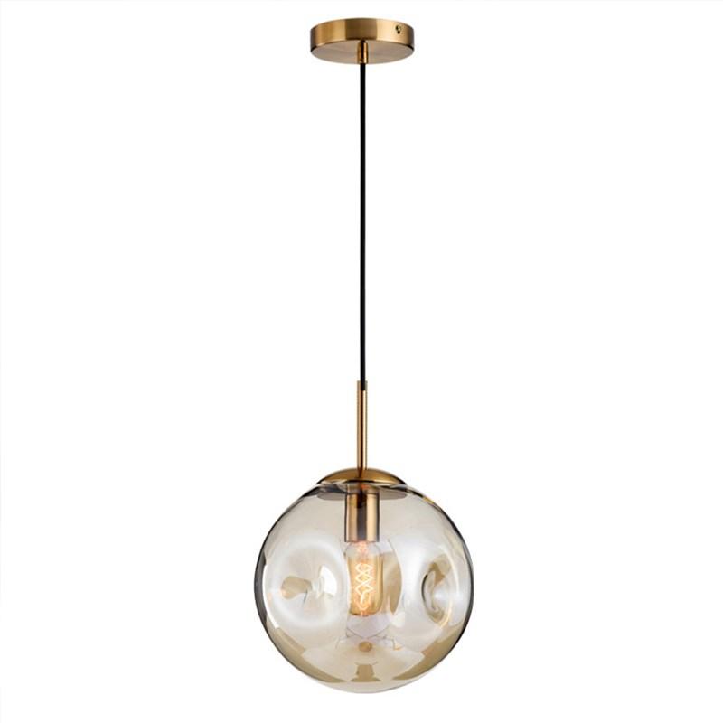 Nordic Glass Pendant Light Round Ball Lamp Ceiling Light Living Room Dining Room Bedside Lamp Lz1 Glass Ball Pendant Lighting Glass Pendant Light Pendant Light