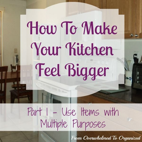Feel Like Your Kitchen Is Always Too Small? Here's A Tip