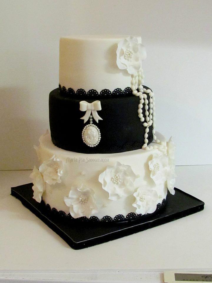 Birthday Cakes - Black and white cake
