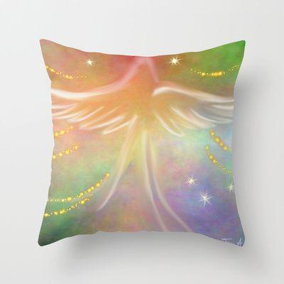Spirit Angel Throw Pillow by Tina A Stoffel Arts | Society6