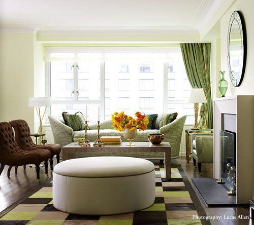 living rooms - green velvet sofa chocolate brown tufted ...