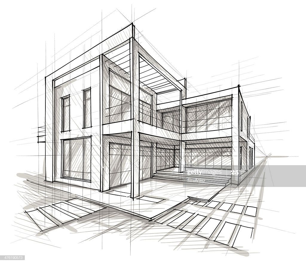 Vector Illustration Of The Architectural Design In The Style Of Layout Architecture Architecture Concept Drawings Concept Architecture