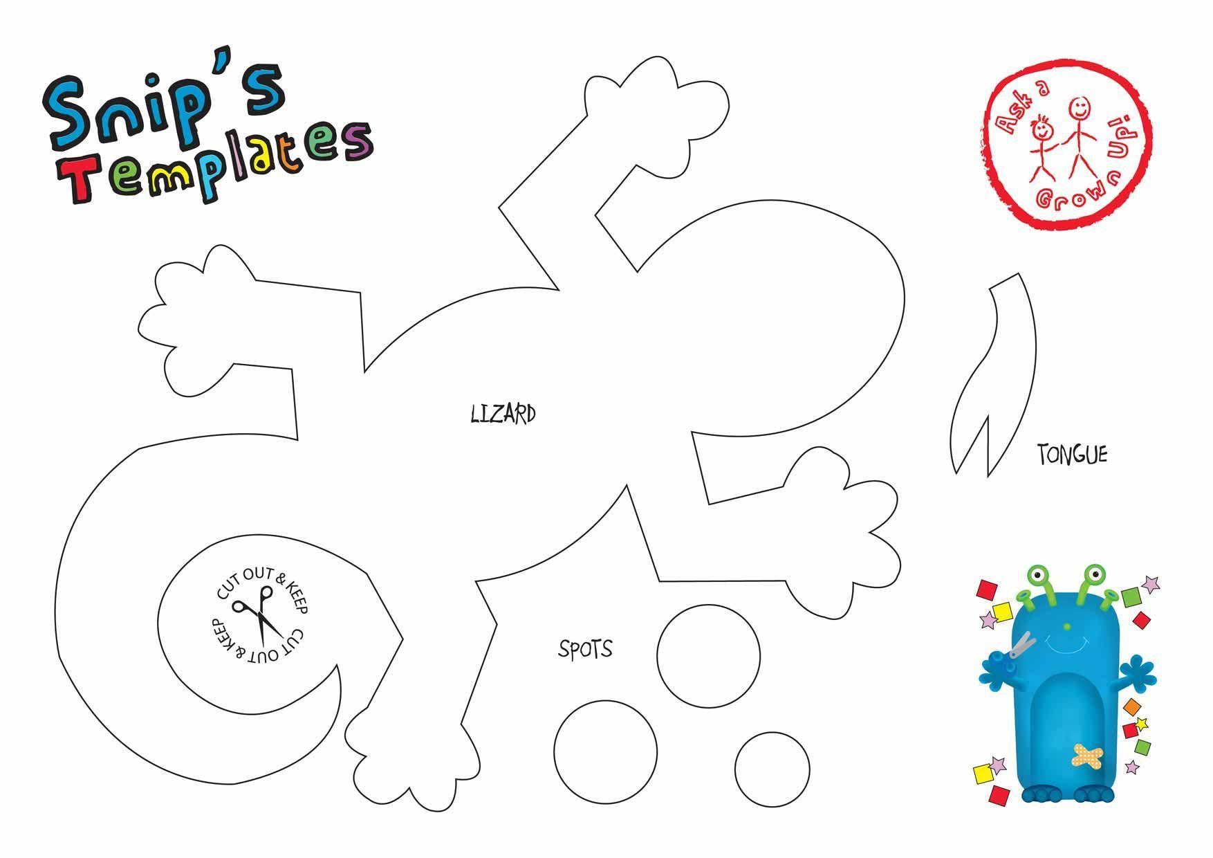 29 Images Of Lizard Papercraft Template
