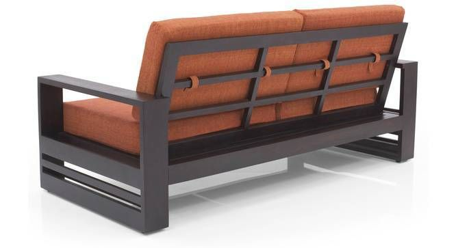 Parsons Wooden Sofa 2 1 1 Set Mahogany Finish Amber With Images Steel Furniture Sofa Design Wooden Sofa Designs