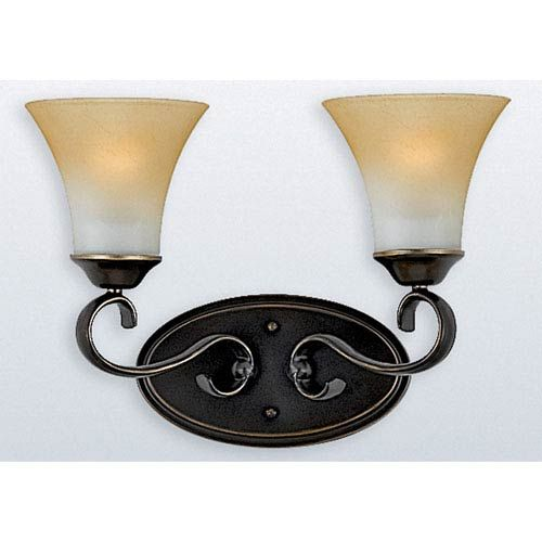 Photo of Quoizel DH8602PN Duchess Two-Light Bath Fixture in Palladian Bronze, Traditional | Bellacor