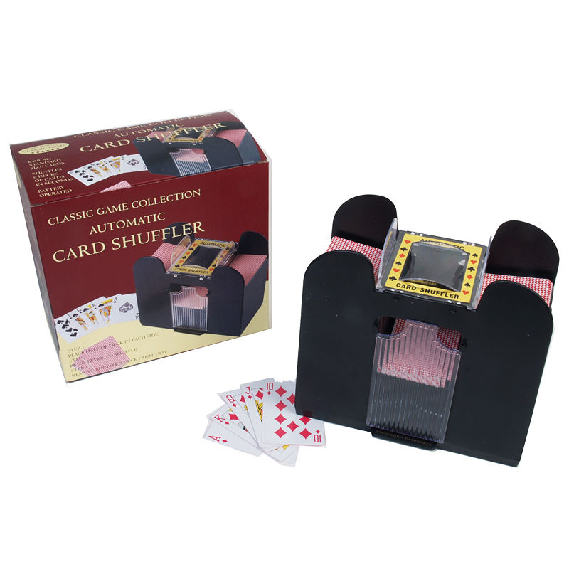 sports  outdoors casino 6 deck automatic card shuffler