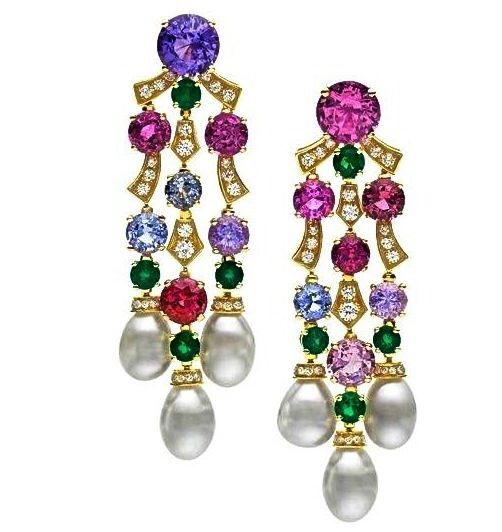 Bulgari Earring, Jewelry Gemstones, Earrings Jewelry, Gemstones Pearls, Pearl And Diamond Earrings, Bvlgari Earrings, Jewelry Earrings