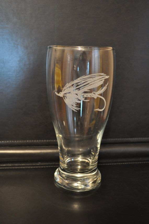 Laser Etched Beer Glass