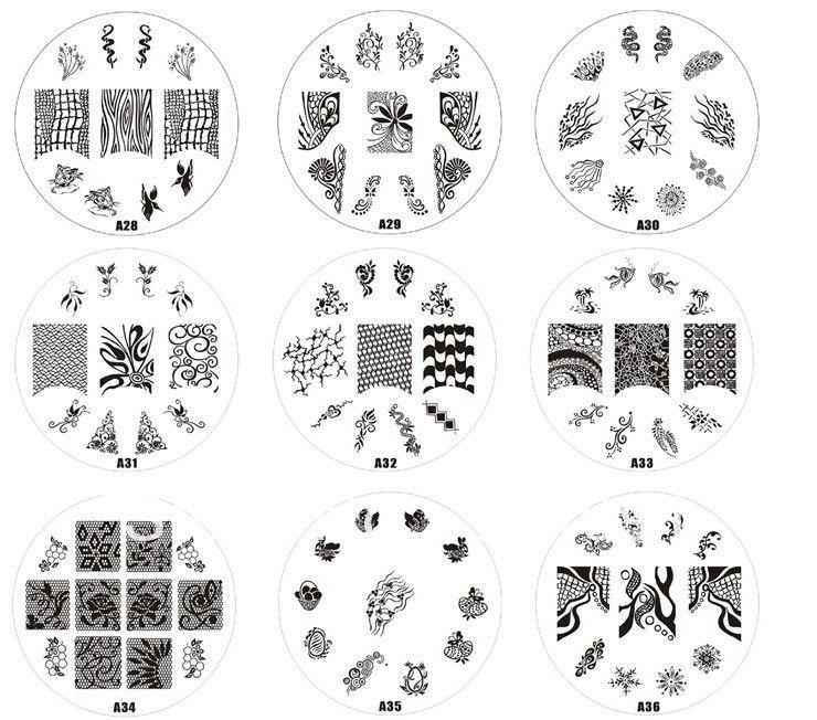 free ship nail art Print Stencil A,nail art stamping,600 design ...